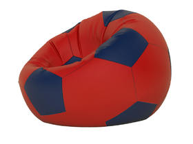 Кресло-мешок Мяч малый нейлон красный-темно синий