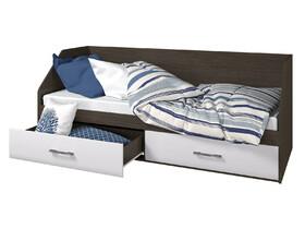 Кровать 800 2 ящика Ненси венге-белый
