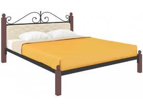 Кровать Диана Lux мягкая чёрная