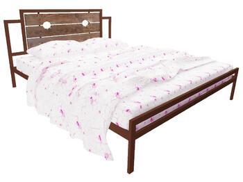 Кровать Инесса коричневая