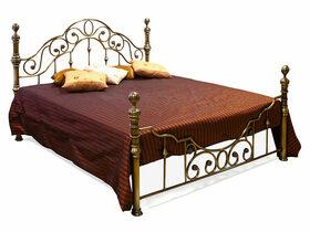 Кровать металлическая Victoria Queen Bed Античная Медь