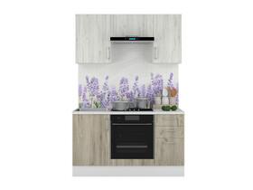 Кухонный гарнитур Европа 1500 Белый-Серый Крафт