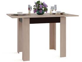 Кухонный стол Сокол СО-1 Беленый дуб подстолье Венге
