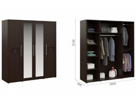 Распашной шкаф Токио 4дв Венге