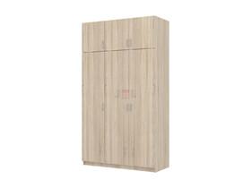 Шкаф для платья и белья 3-х дверный Флагман 2 дуб сонома
