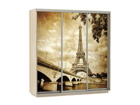 Шкаф-купе Трио Фото Париж Ясень шимо светлый