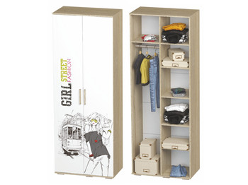 Шкаф Сенди ШК-09 802х2176х460 для девочки