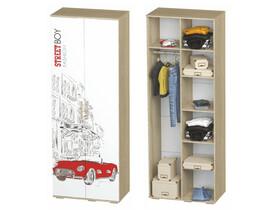Шкаф Сенди ШК-09 802х2176х460 для мальчика