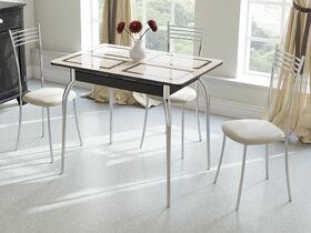 Стол обеденный раздвижной Рим СМ-218.01.01 Венге, стекло с рисунком